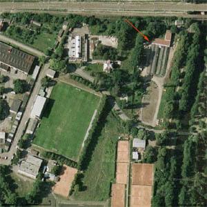 Letecký snímek okolí Skautského centra Vinice