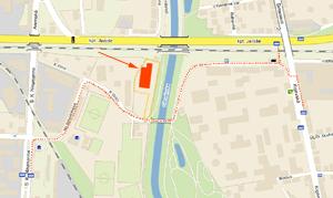 Mapka okolí Skautského centra Vinice